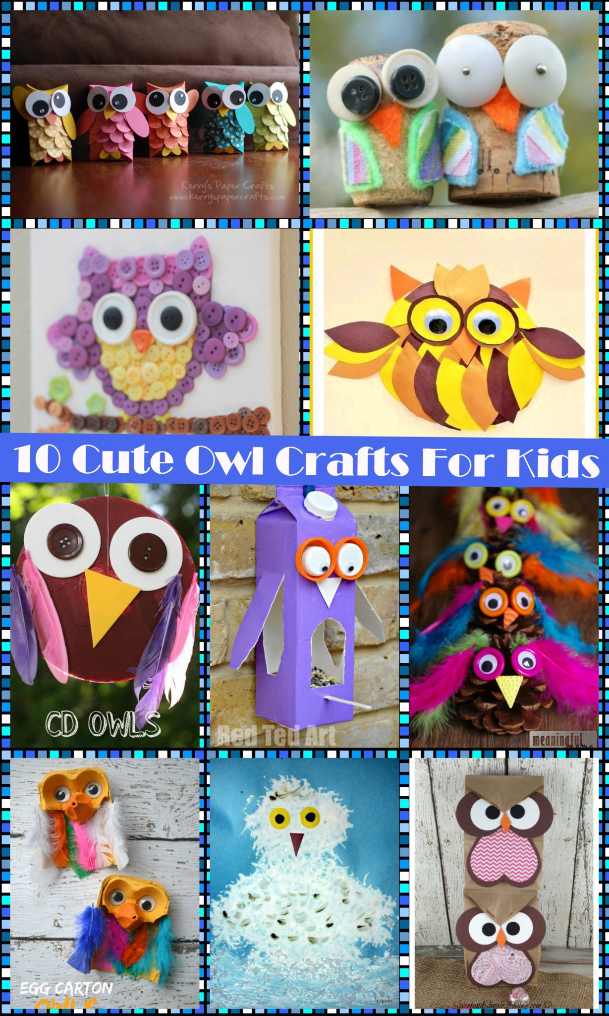 10 Cute Guys With Blonde Hair: 10 Cute Owl Crafts For Kids