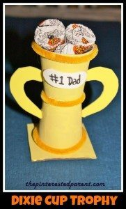 Dixie Cup Trophy & treat holder - An adorable gift idea for Father's Day or for a teacher, mother, grandmother etc.