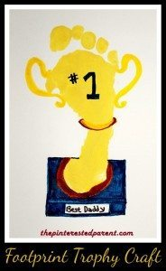 Footprint Trophy Craft - What a sweet Father's Day gift