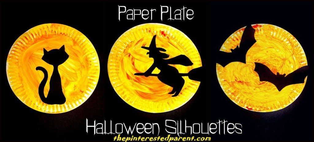 Paper Plate Halloween Silhouette Crafts