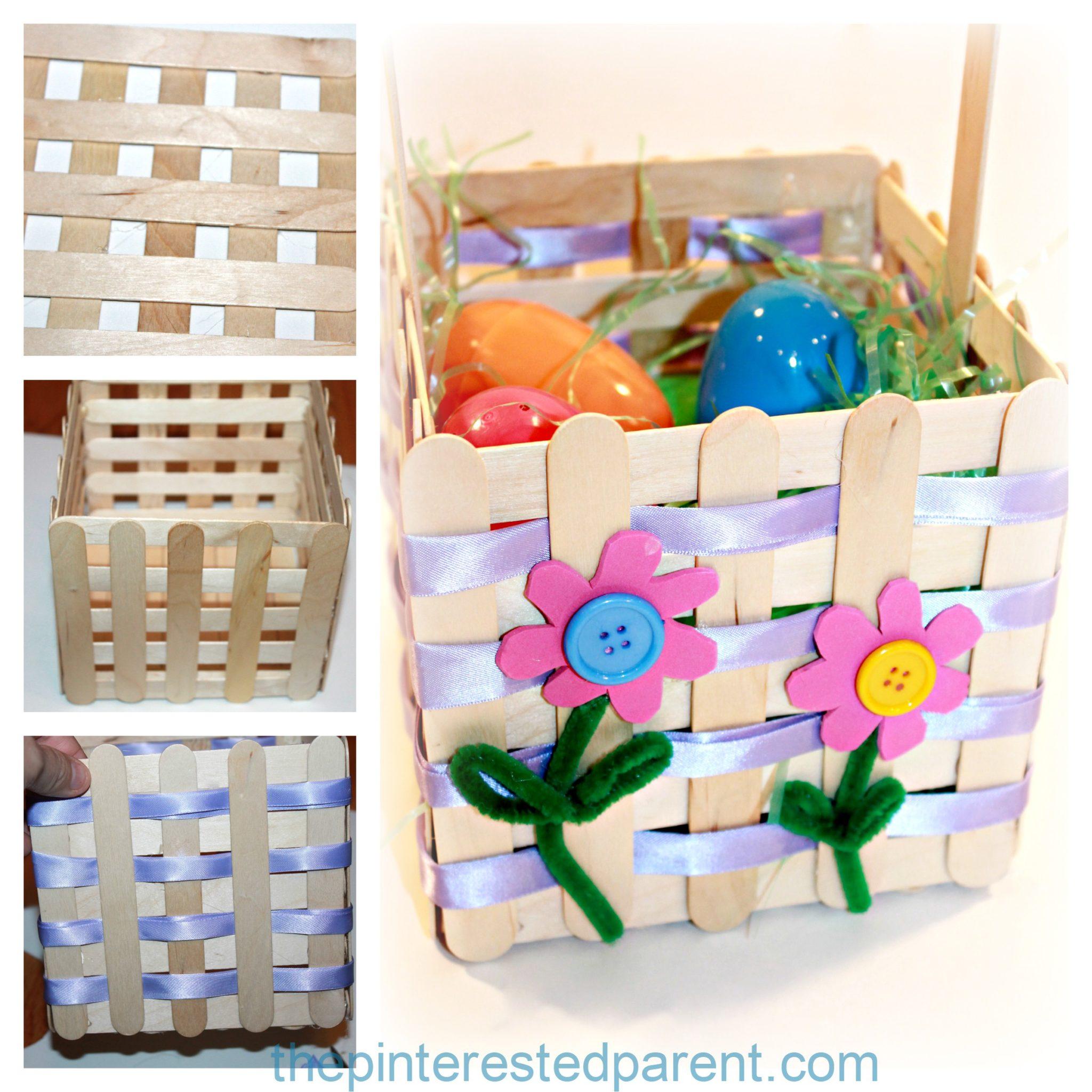 Craft Stick Easter Basket