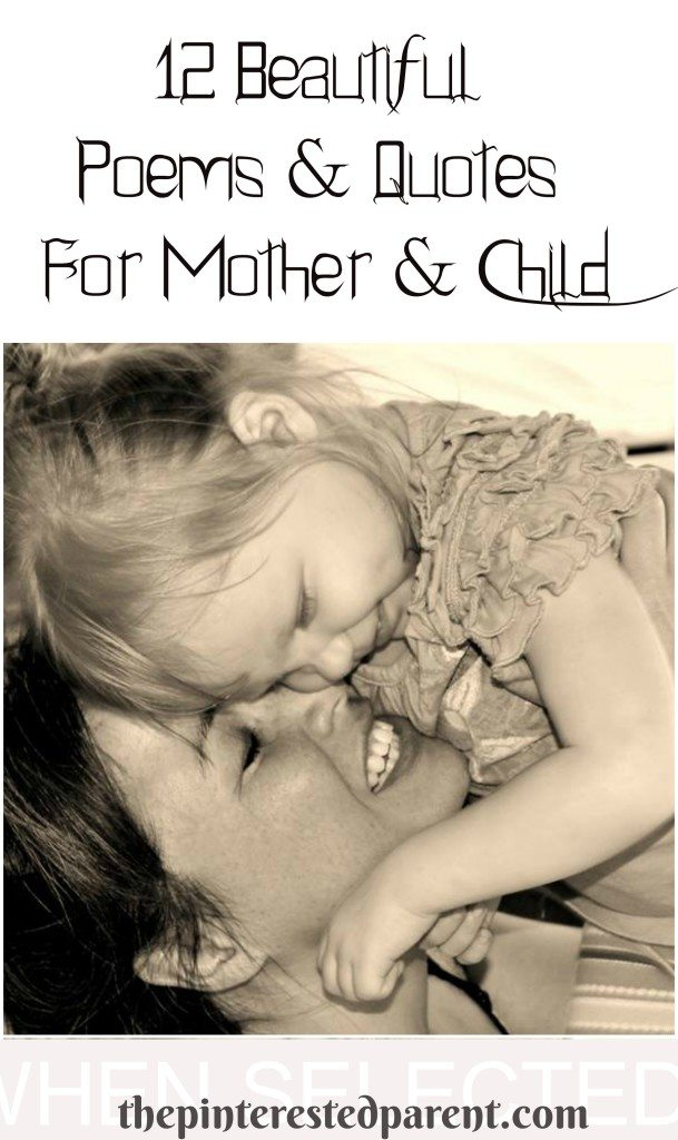 12 quotes & poems about motherhood & children - poetry mother & child