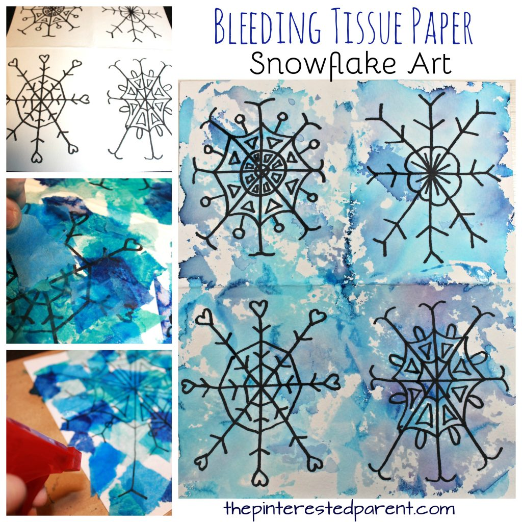 Paper Tissue Snowflake Christmas Decorations By Pearl And: Bleeding Tissue Snowflake Art