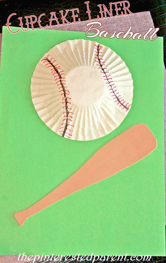 Cupcake Liner Baseball Amp Cotton Ball Cotton Candy Craft
