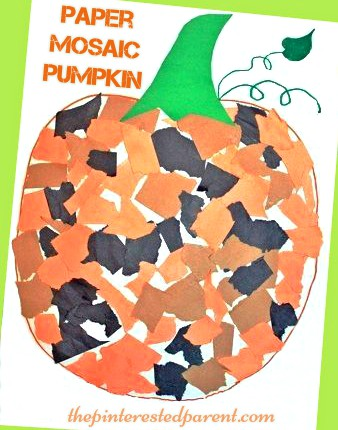 Mosaic Pumpkin Craft For Kids The Pinterested Parent