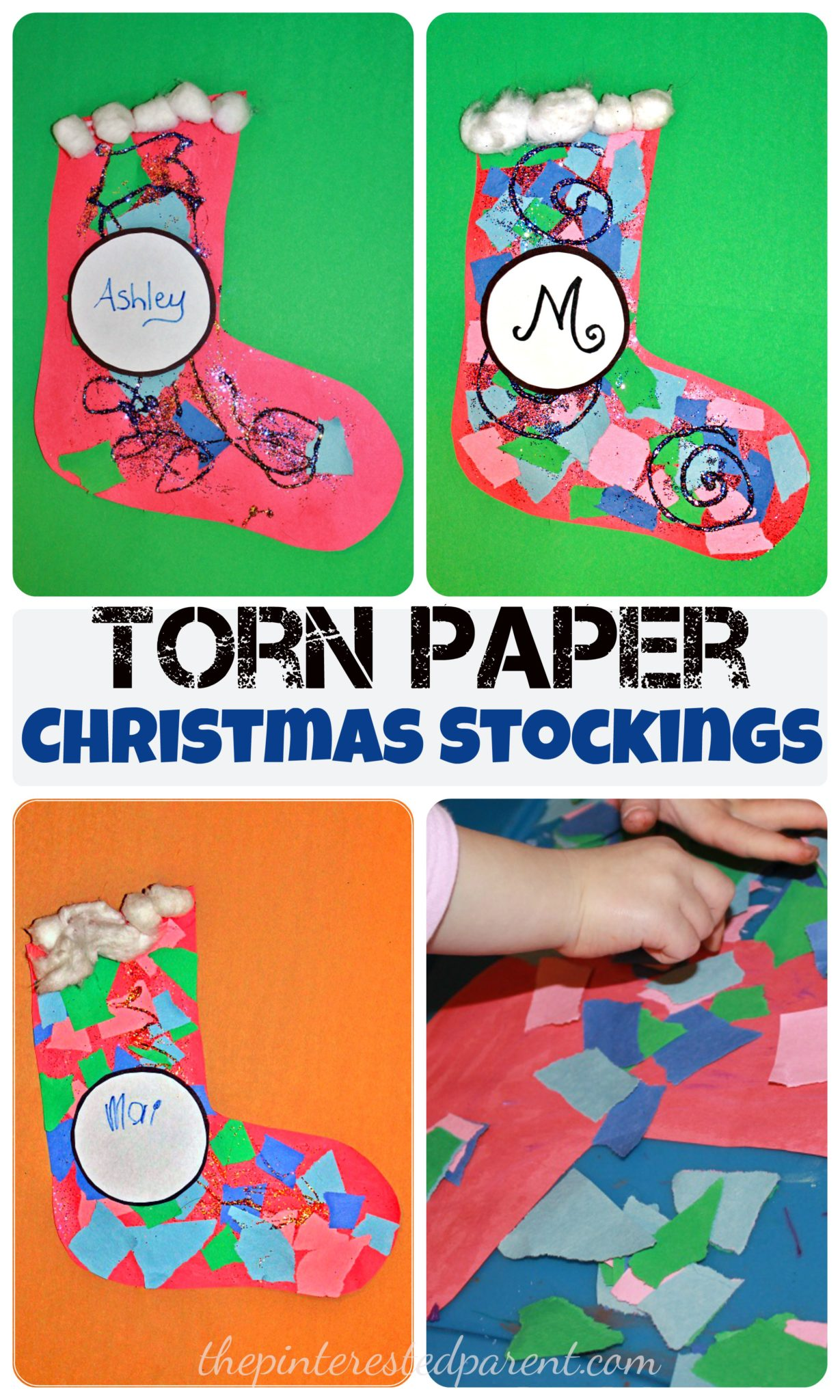 torn paper christmas stockings u2013 the pinterested parent