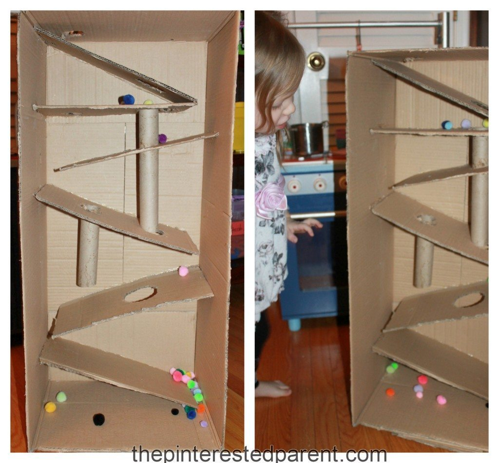 Cardboard Box Building Craft For Kids