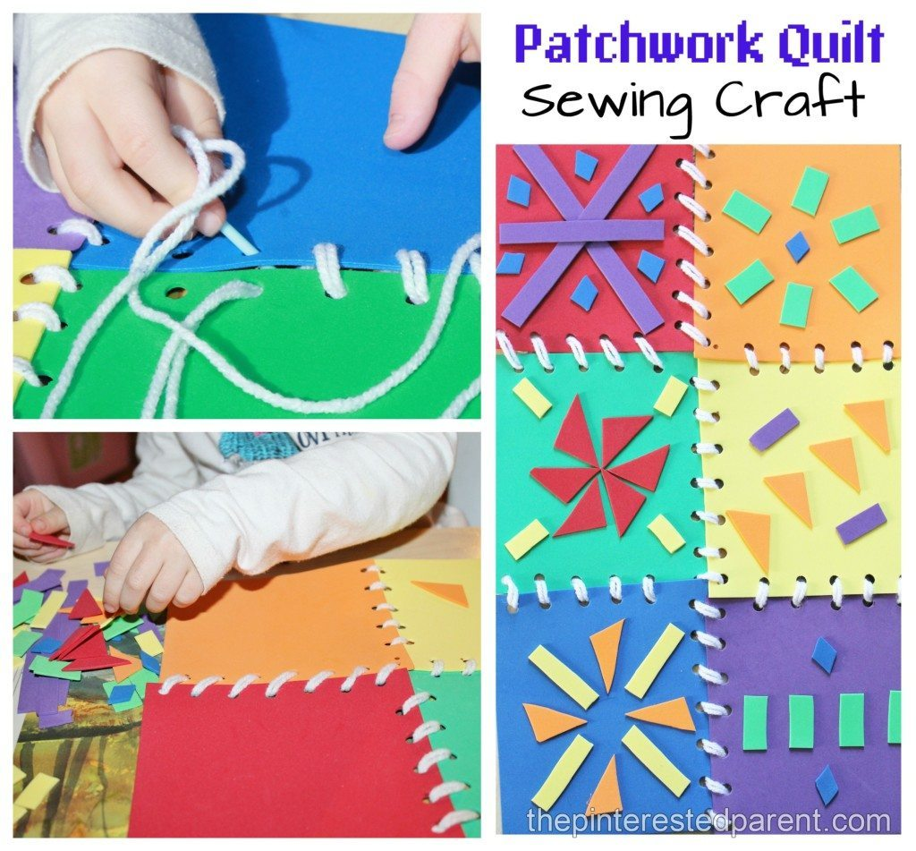sewing arts and crafts ideas patchwork quilt sewing craft amp activity the pinterested 7123