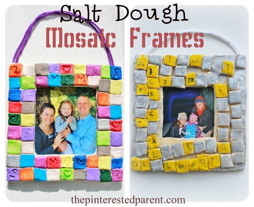 Salt Dough Mosaic Frames The Pinterested Parent