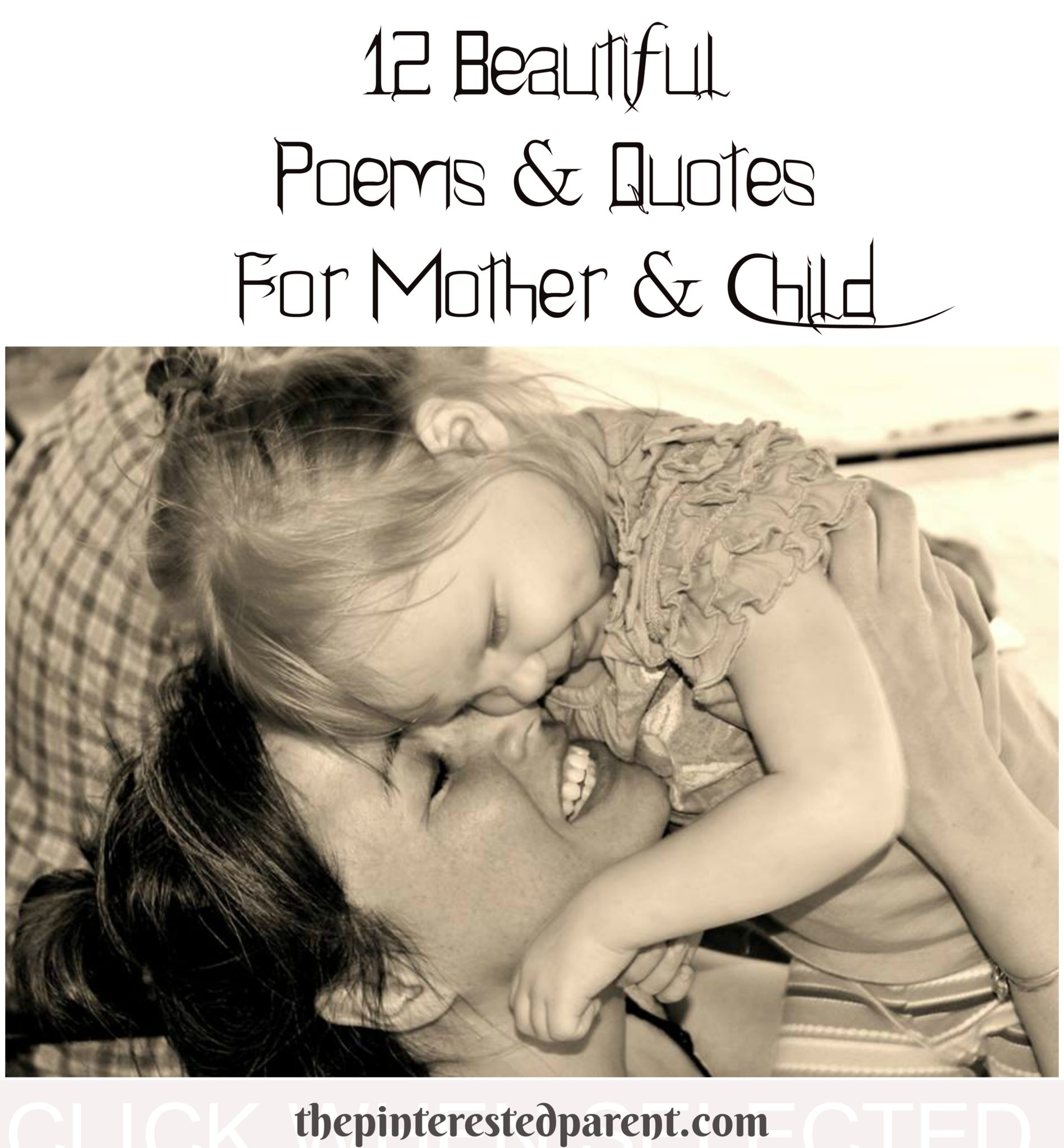 Children Love Quotes Poems & Quotes For Mother & Child  The Pinterested Parent