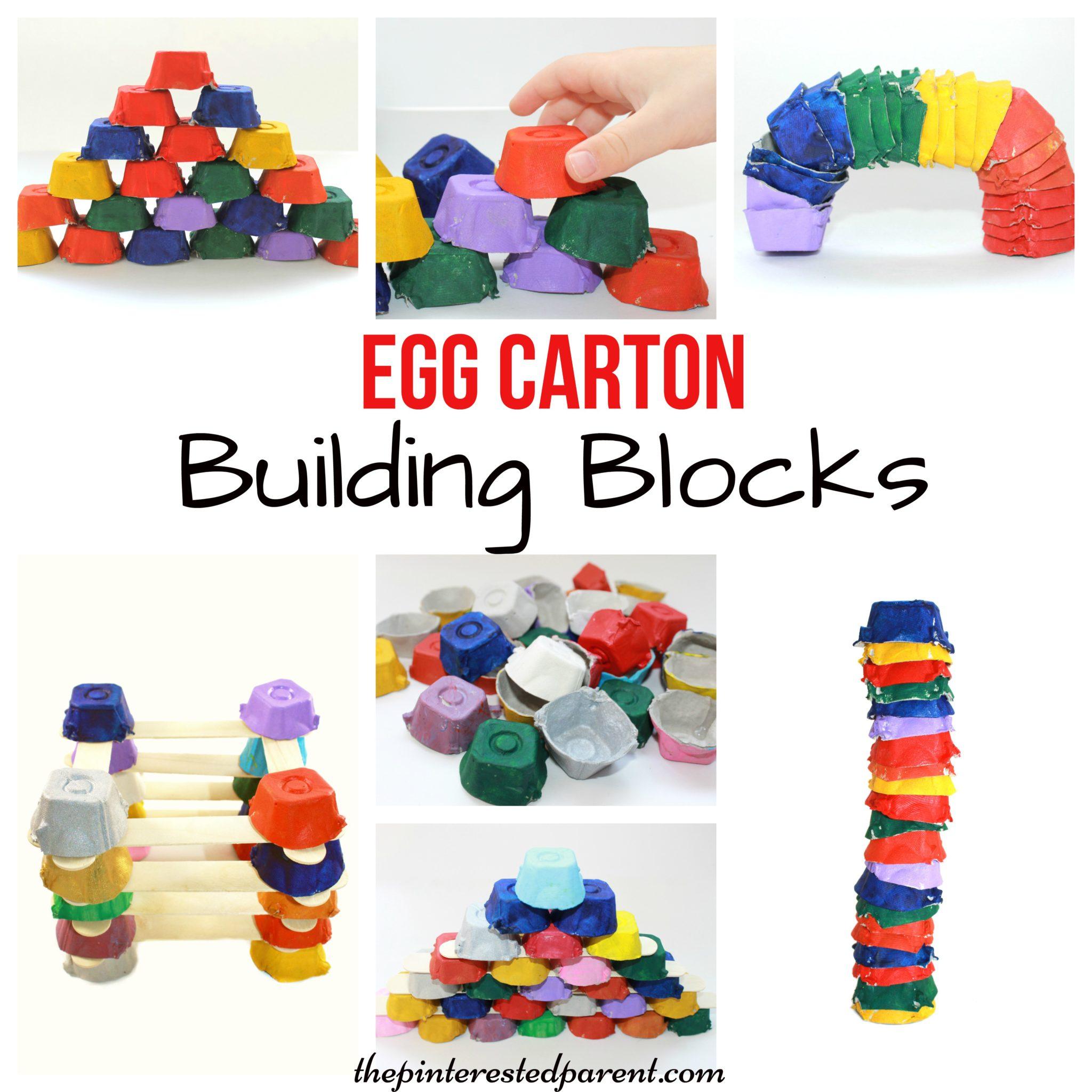 Egg Carton Building Blocks – The Pinterested Parent