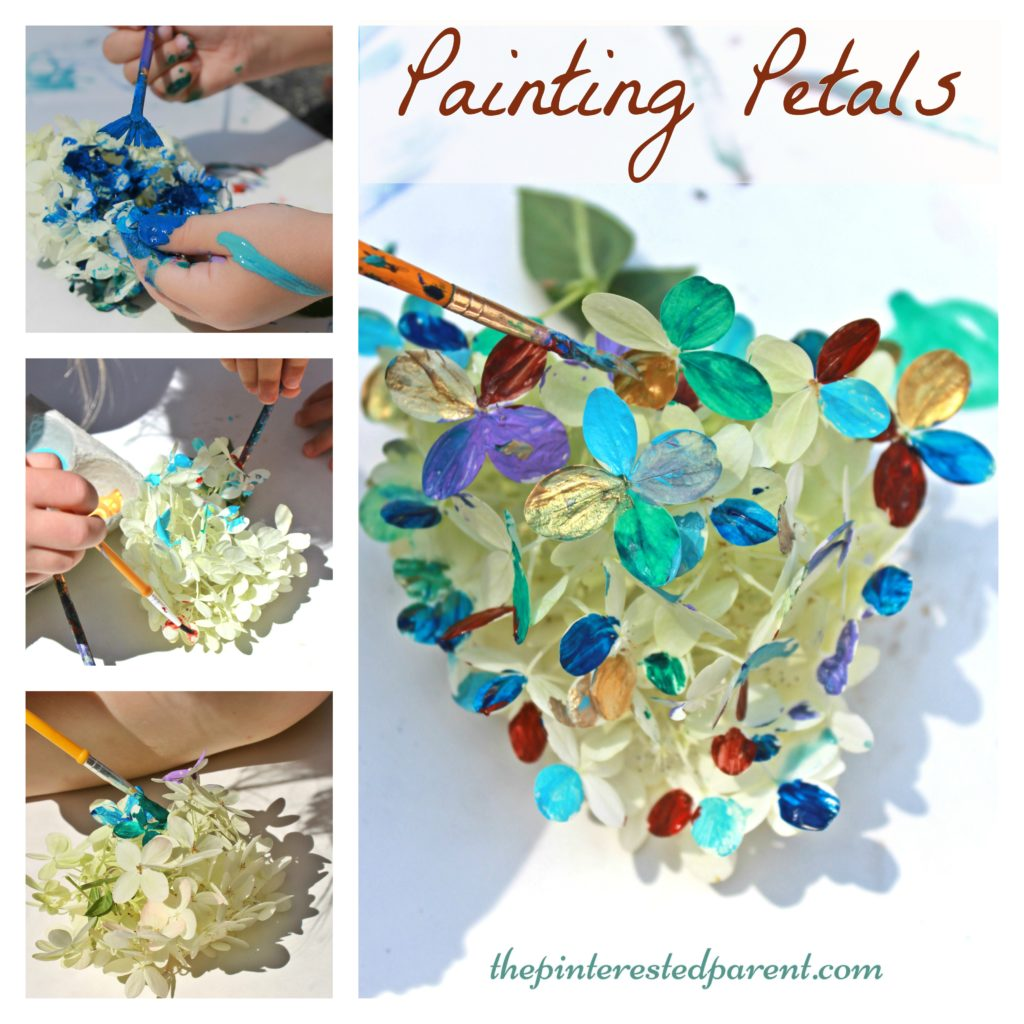 spring arts and crafts ideas painting petals activity the pinterested parent 7176