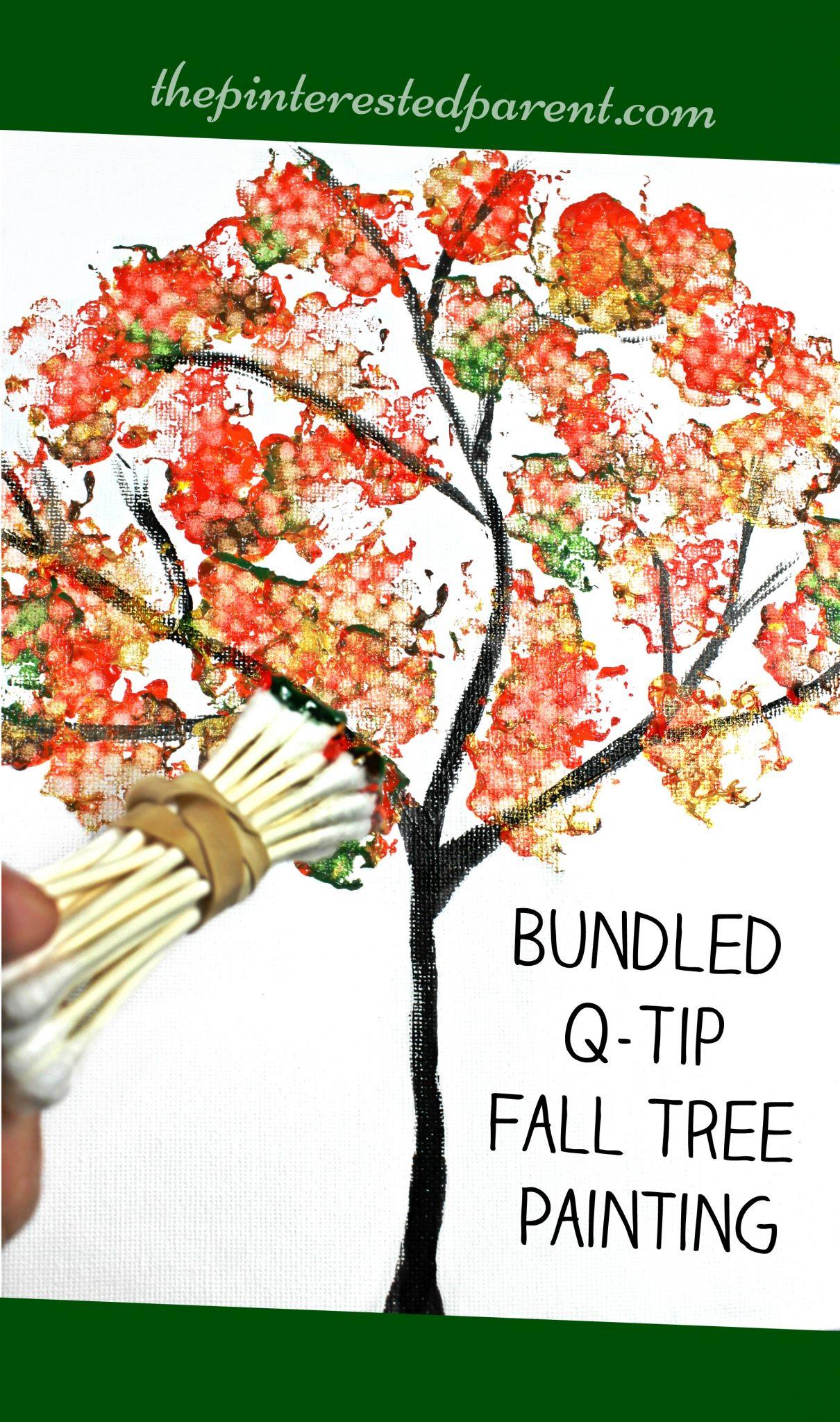 Bundled Q Tip Autumn Tree The Pinterested Parent