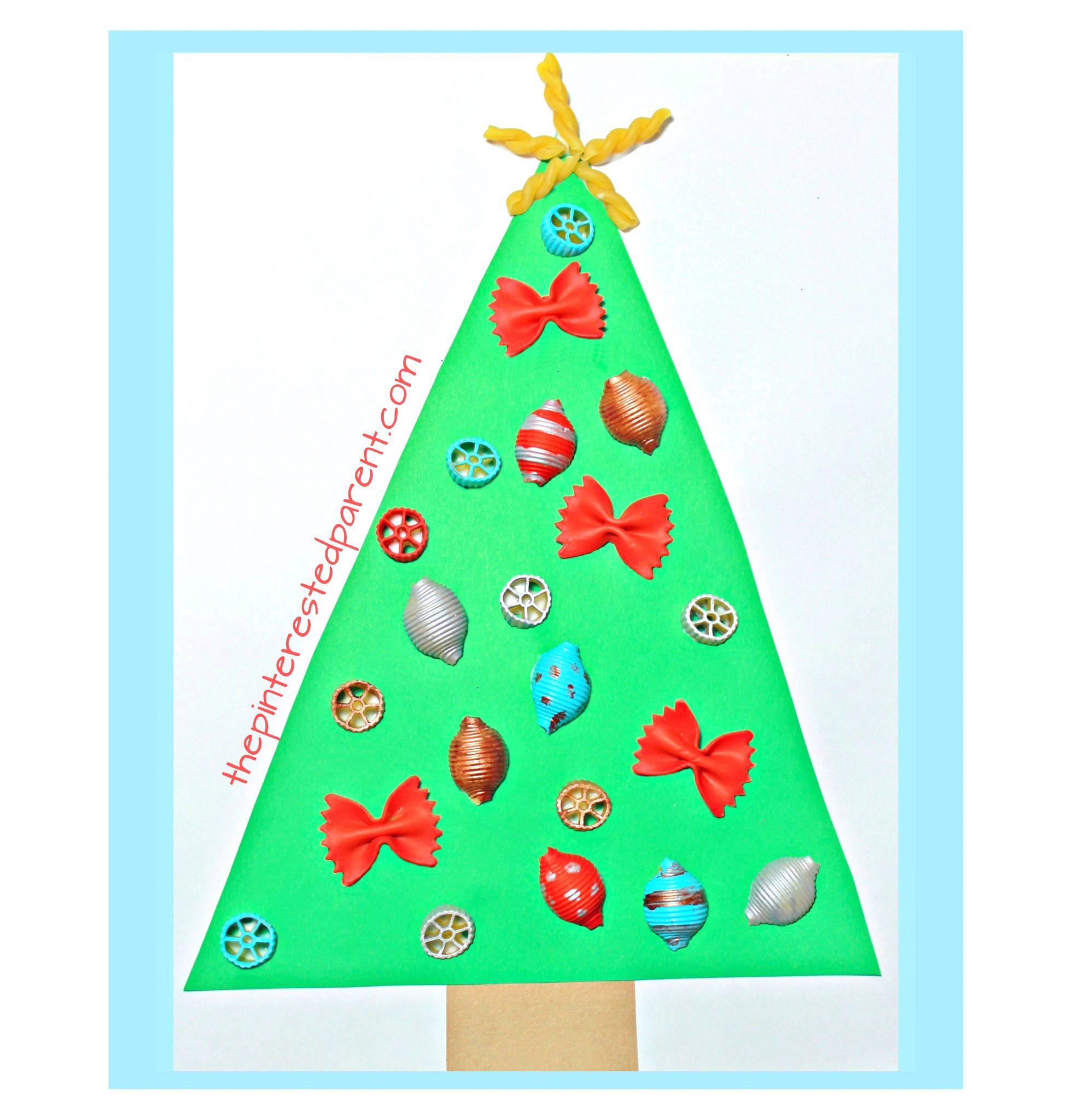Pasta Ornament Christmas Tree