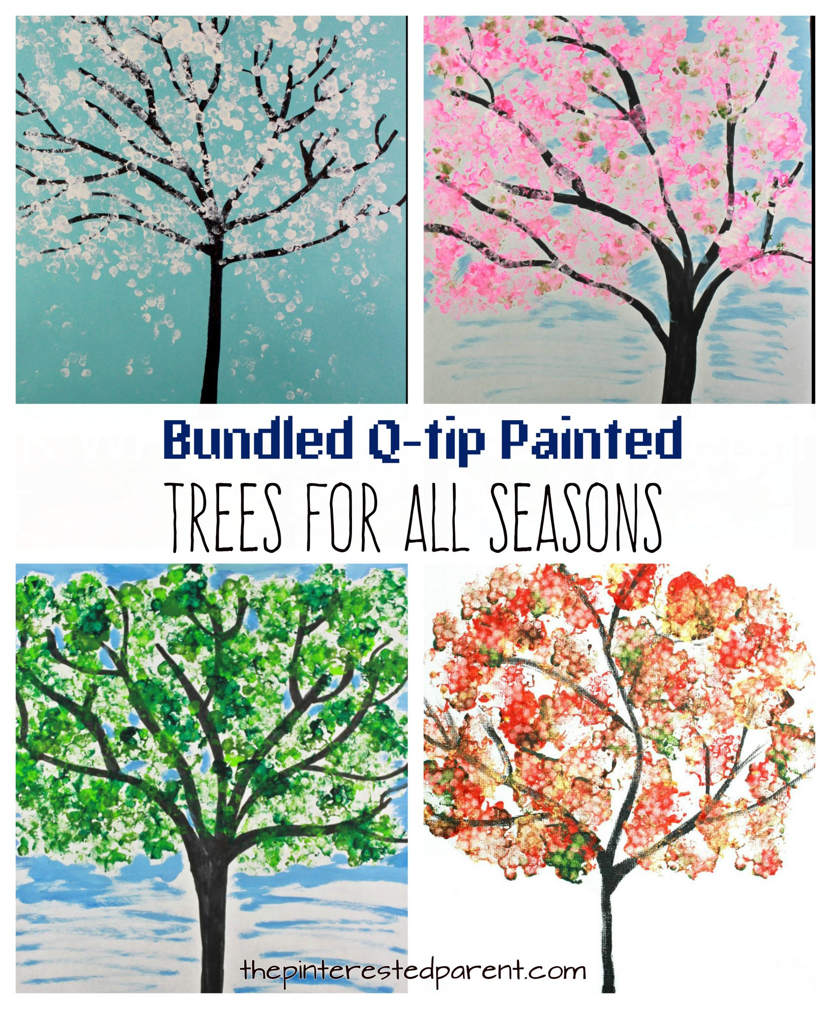 Bundled Q Tip Trees For Every Season The Pinterested Parent