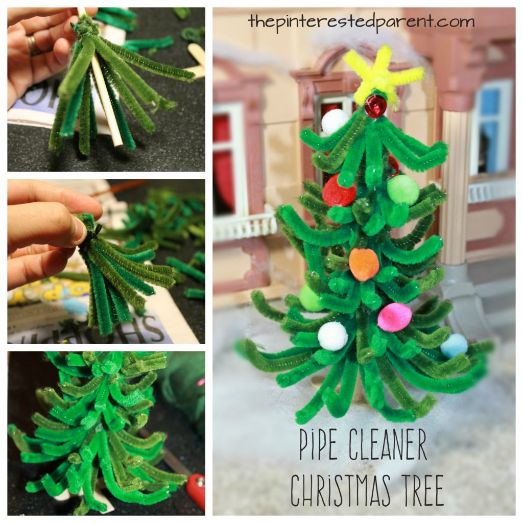 pipe cleaner christmas tree the pinterested parent