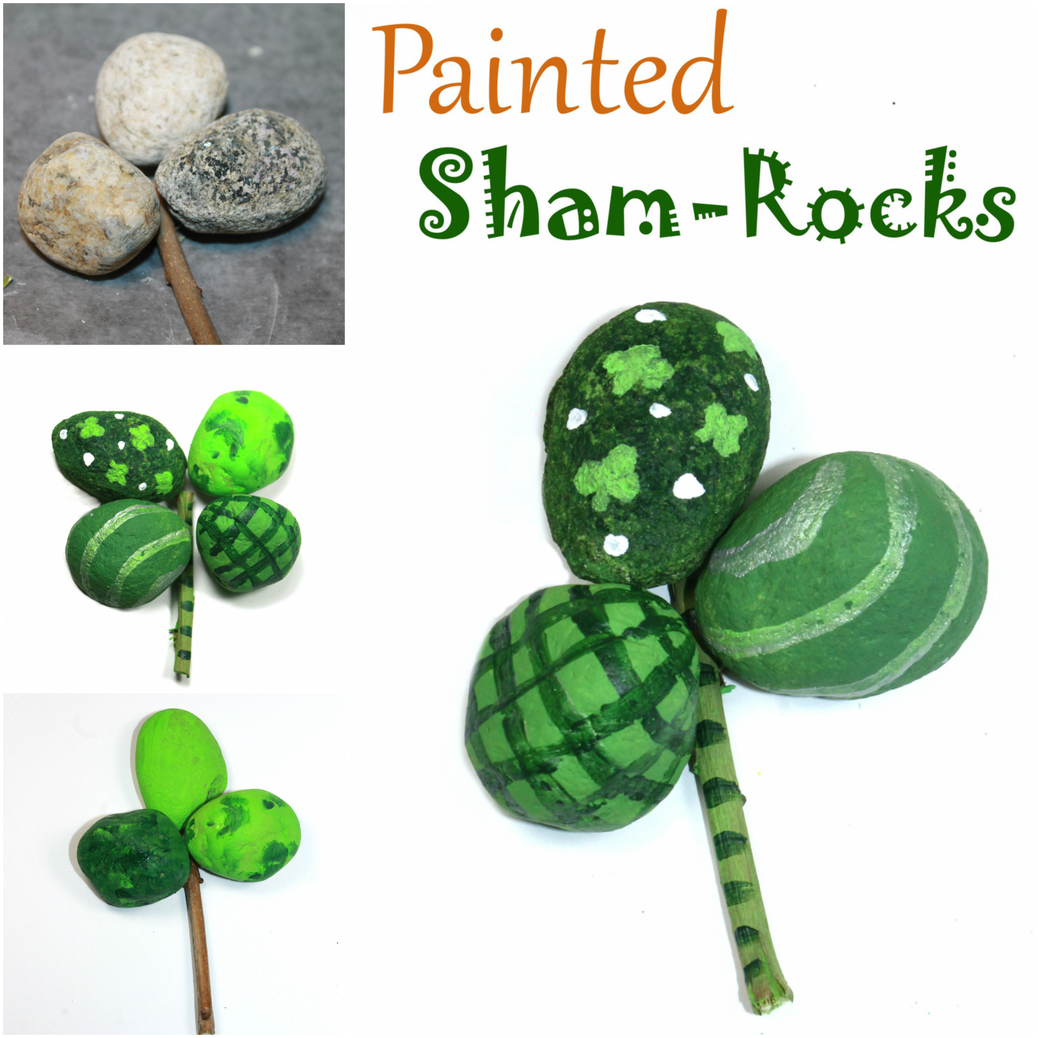 painted sham rocks nature craft u2013 the pinterested parent