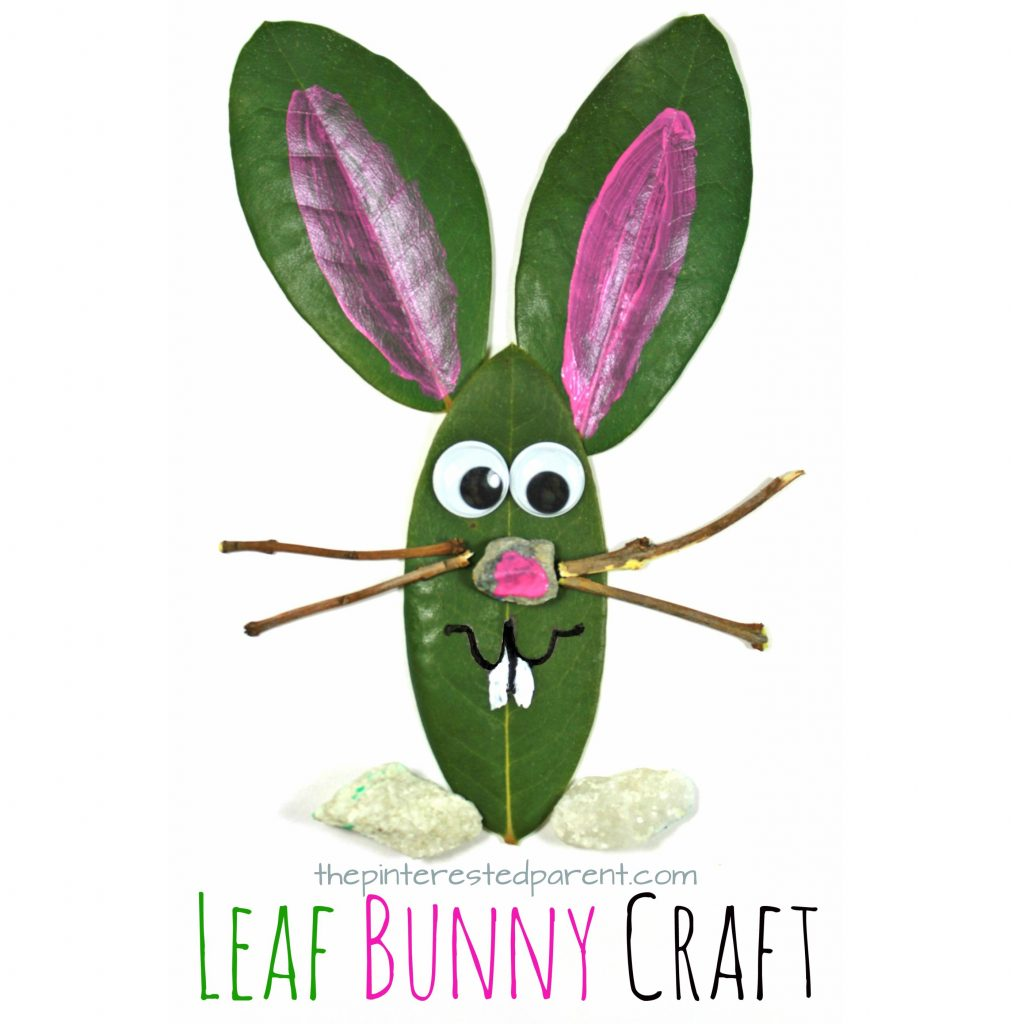 Leaf Bunny Nature Craft – The Pinterested Parent