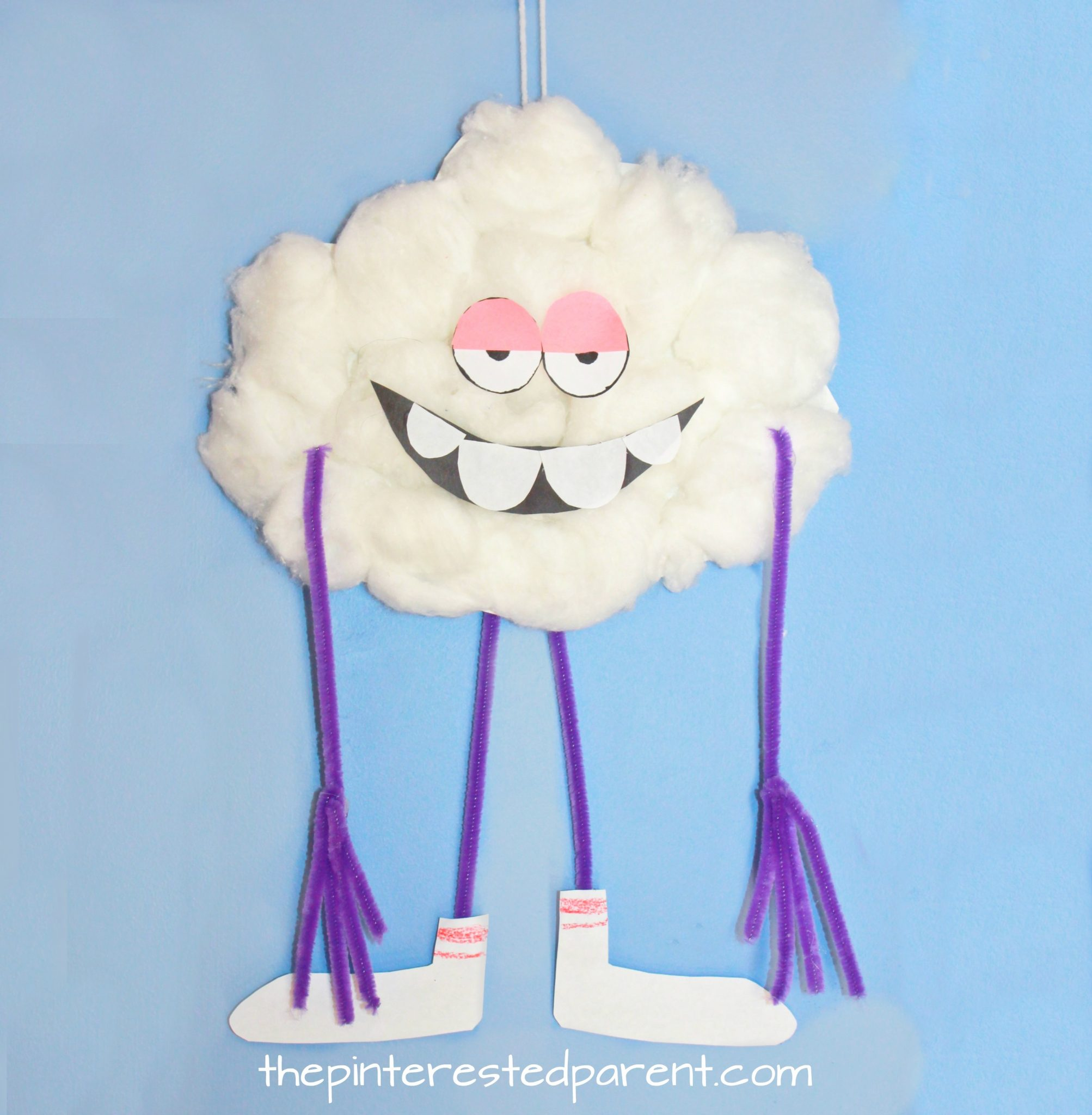Paper plate cloud guy craft the pinterested parent for How to make a paper cloud