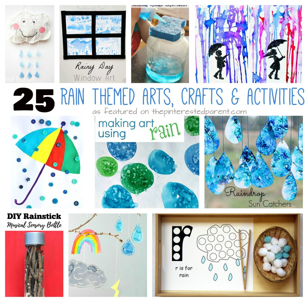 25 Rain Themed Arts, Crafts & Activities – The Pinterested Parent