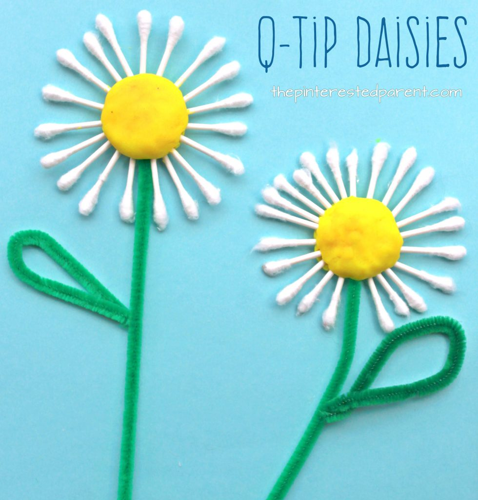 Q tip daisy craft the pinterested parent izmirmasajfo