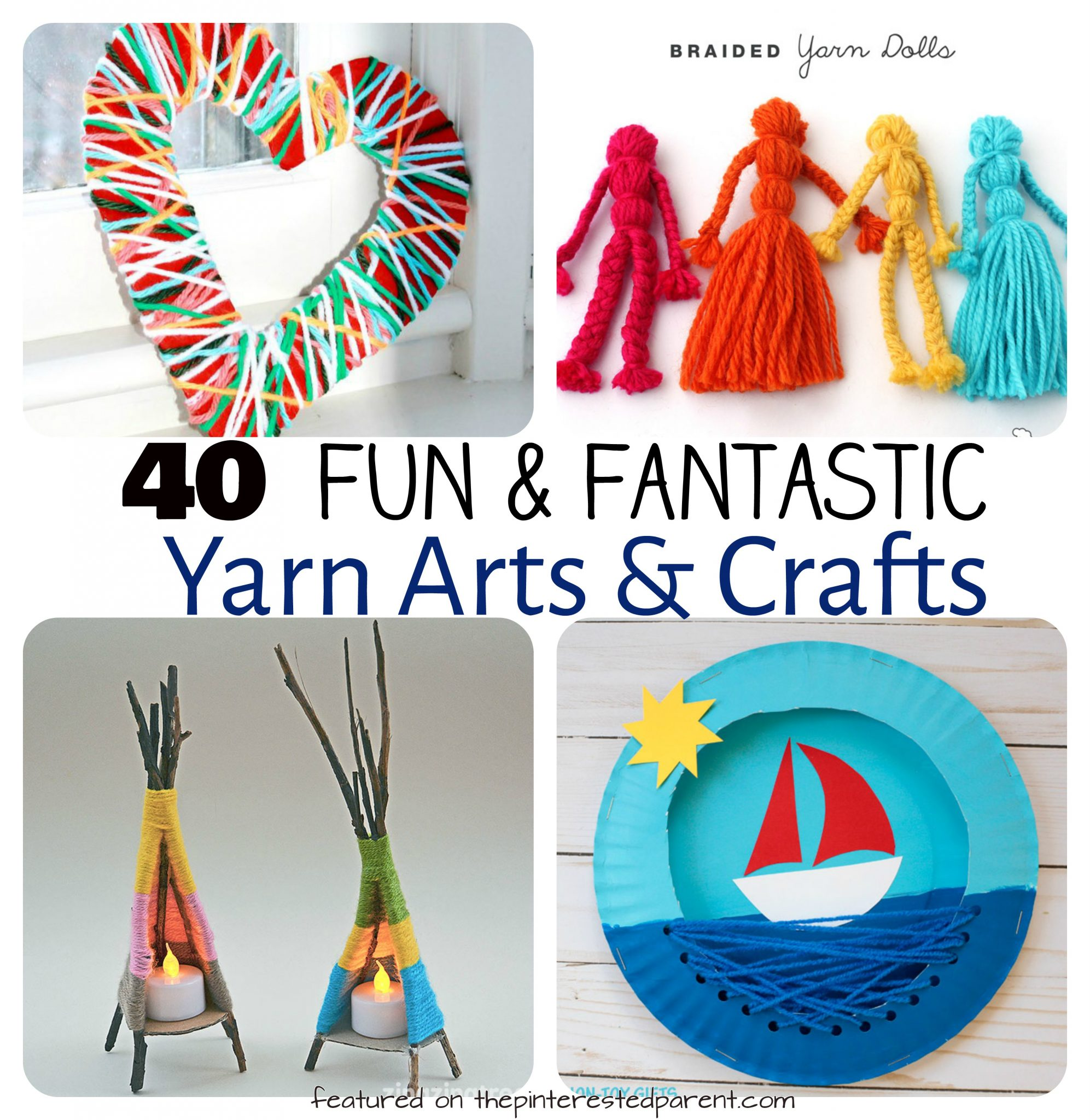 40 fun fantastic yarn crafts the pinterested parent. Black Bedroom Furniture Sets. Home Design Ideas