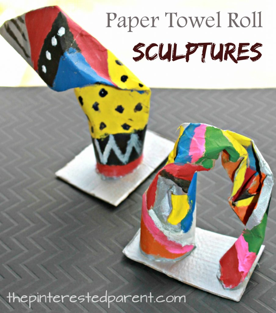 Paper towel roll sculptures the pinterested parent