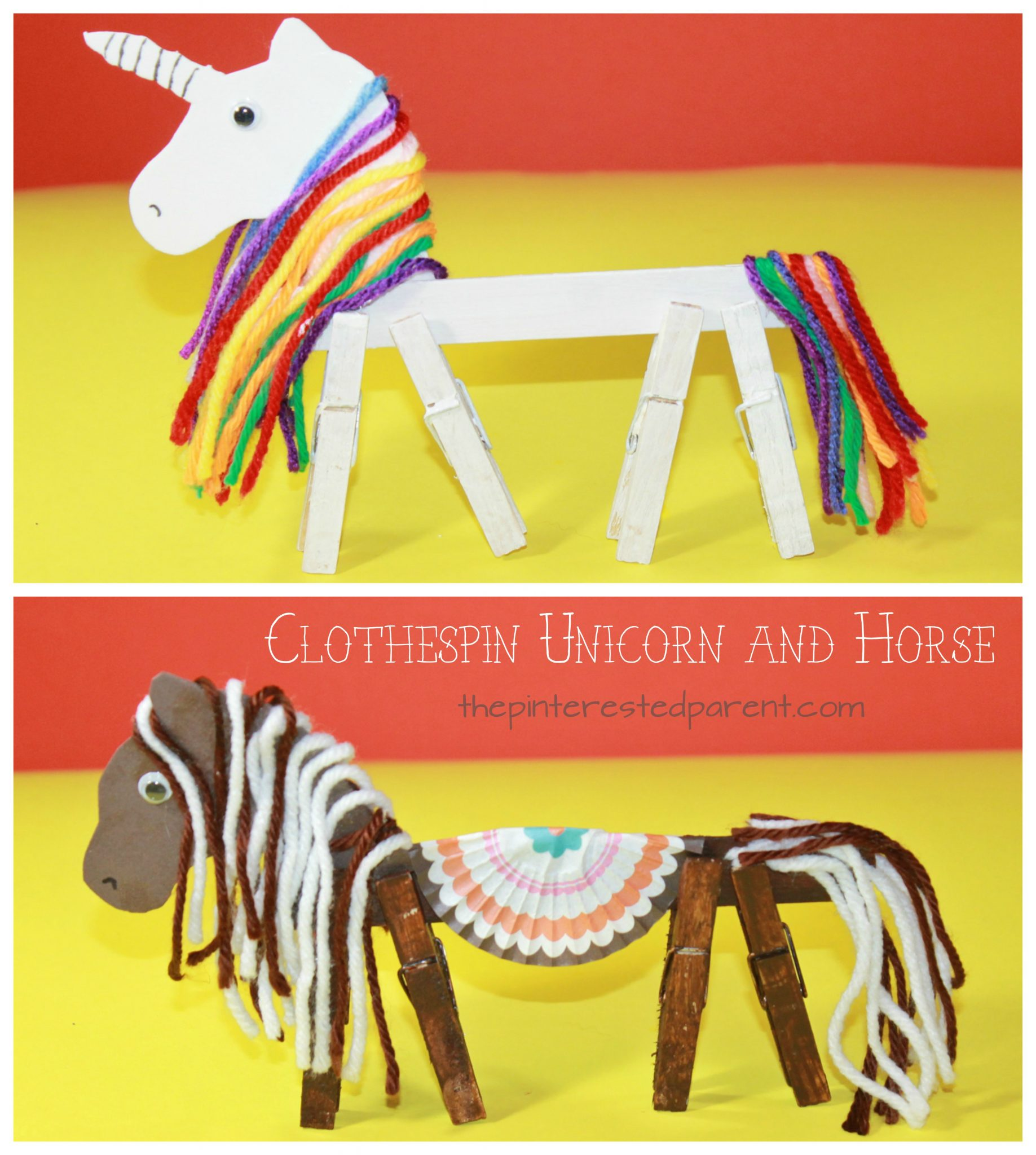 Clothespin Horse Unicorn The Pinterested Parent