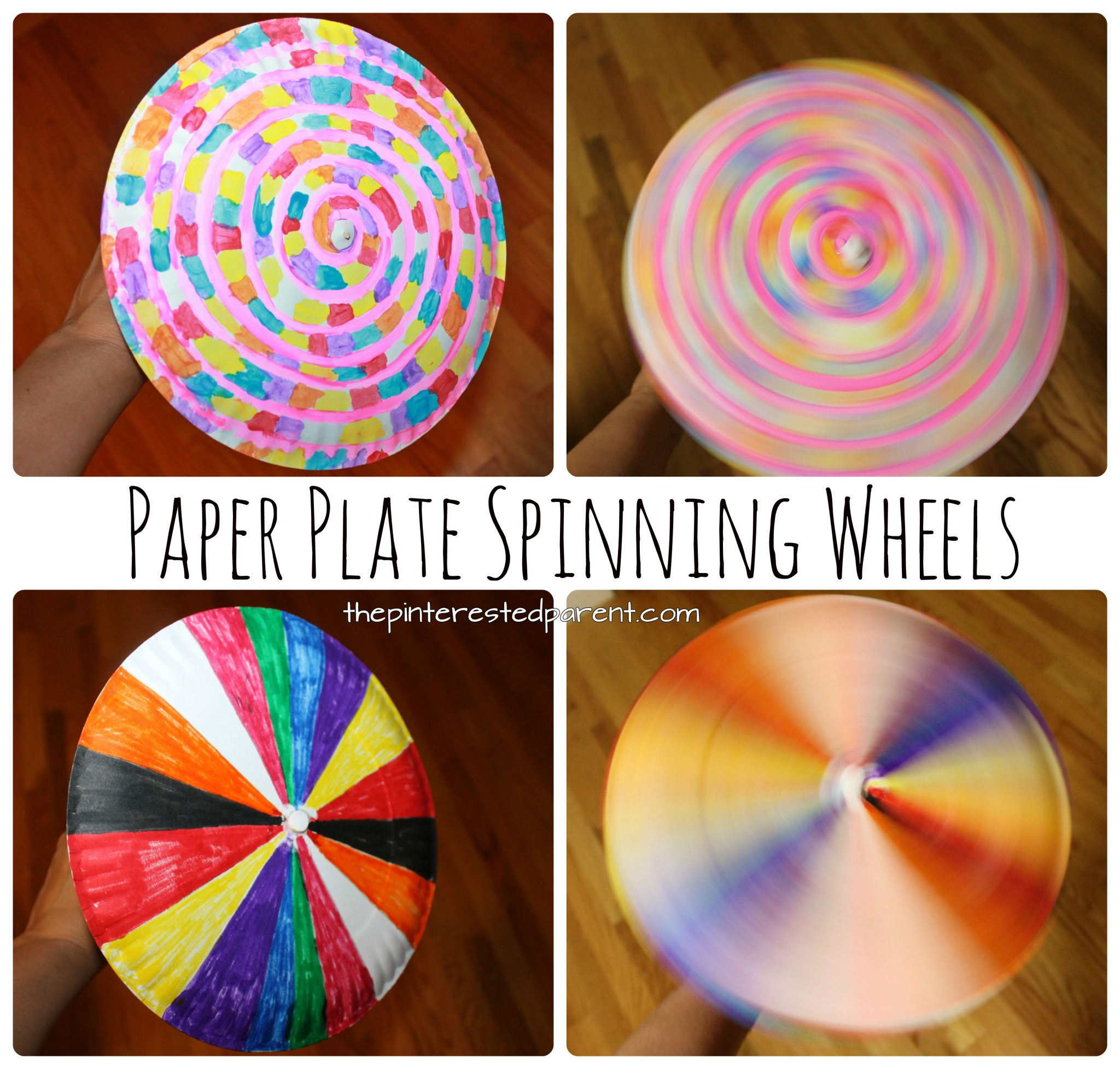 Paper Plate Spinning Wheel The Pinterested Parent