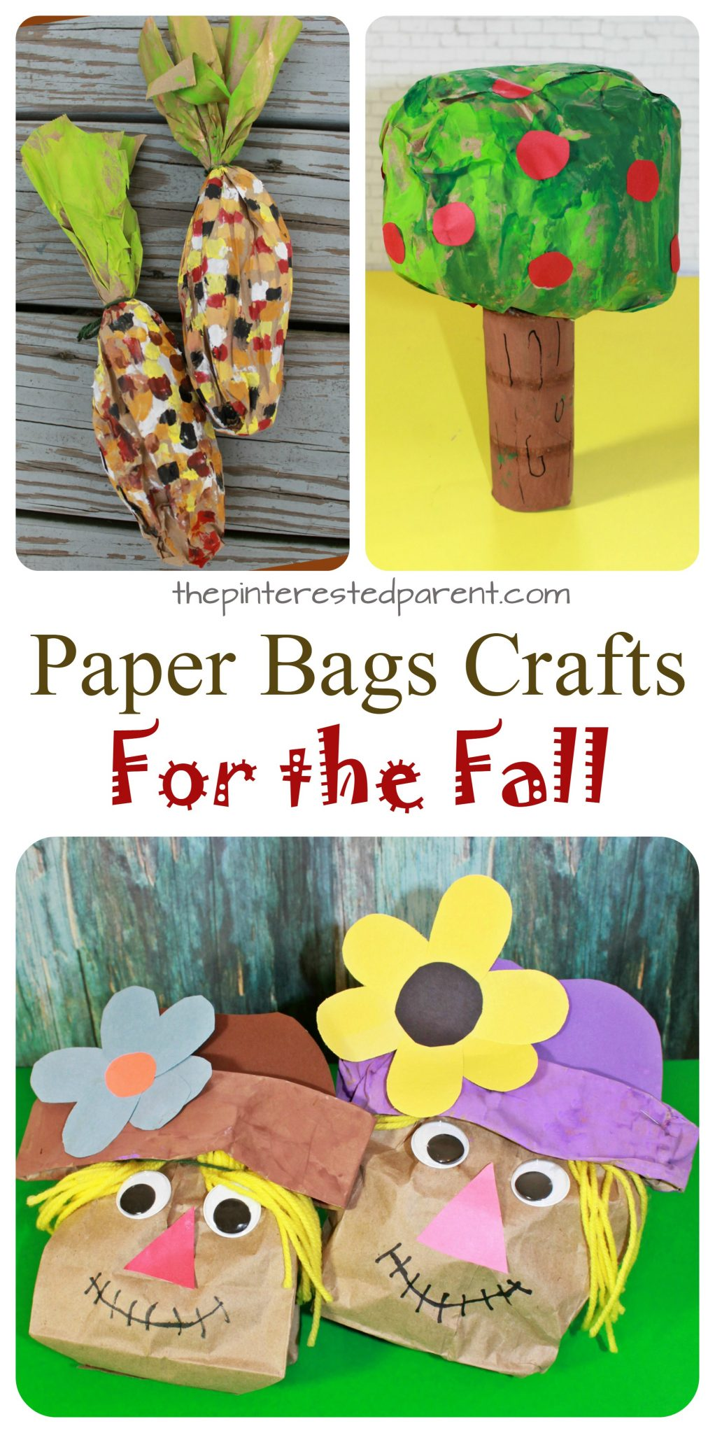 Stuffed paper bag fall crafts the pinterested parent for Brown paper bag crafts for toddlers