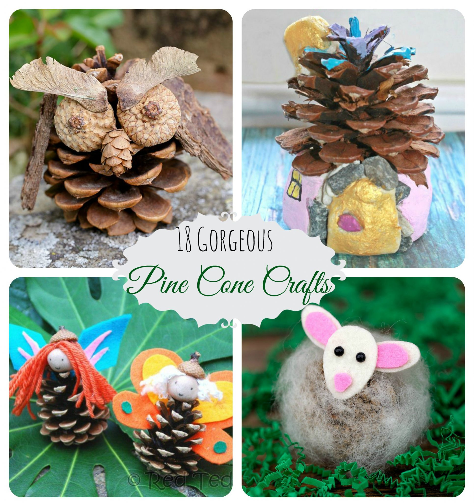 18 gorgeous pine cone crafts the pinterested parent. Black Bedroom Furniture Sets. Home Design Ideas