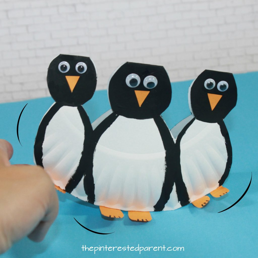 Rocking Paper Plate Penguins The Pinterested Parent