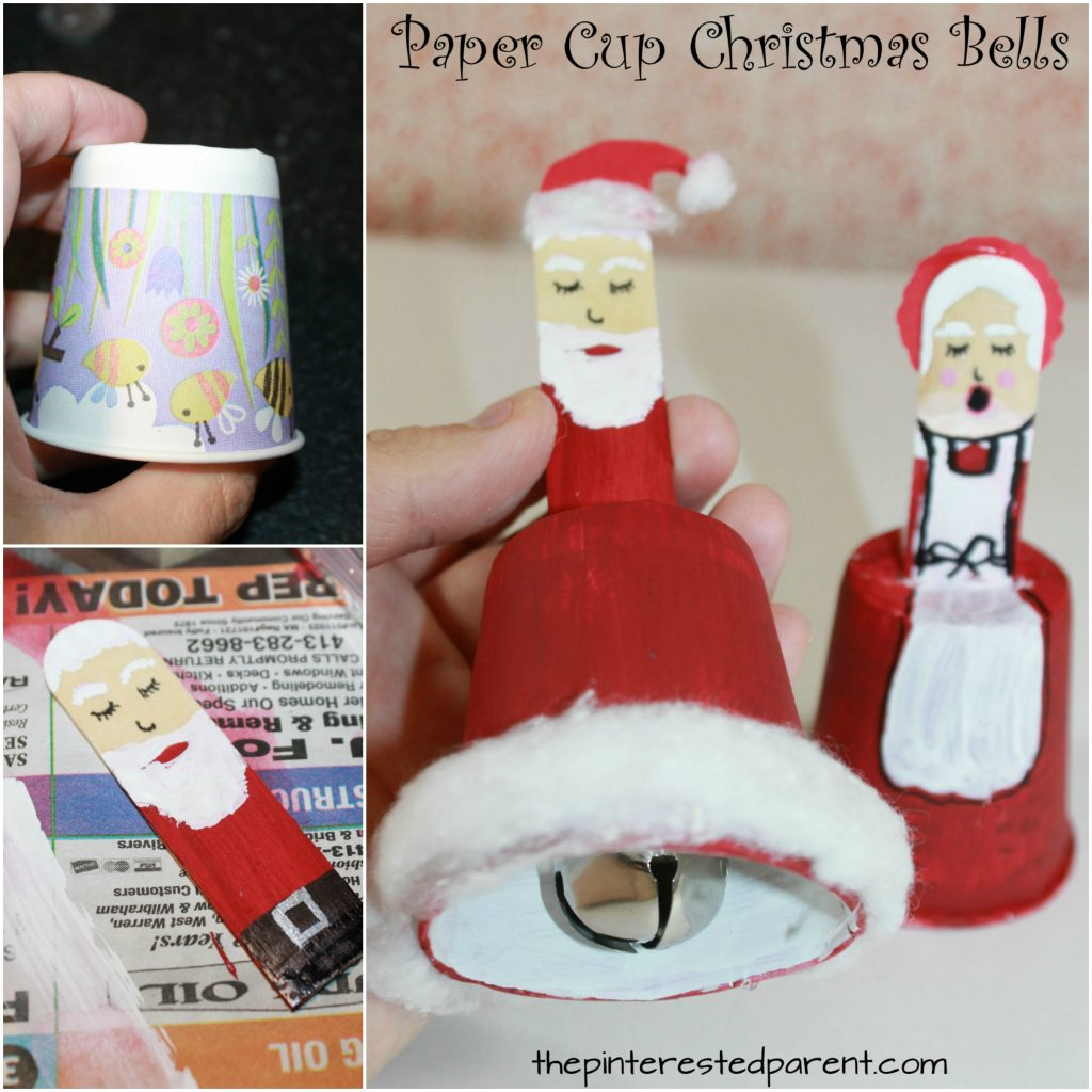 Paper Cup Christmas Bells – The Pinterested Parent