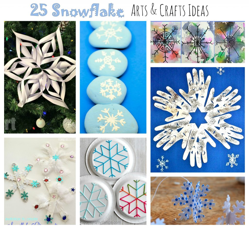 25 Snowflake Arts and Crafts for Kids – The Pinterested Parent