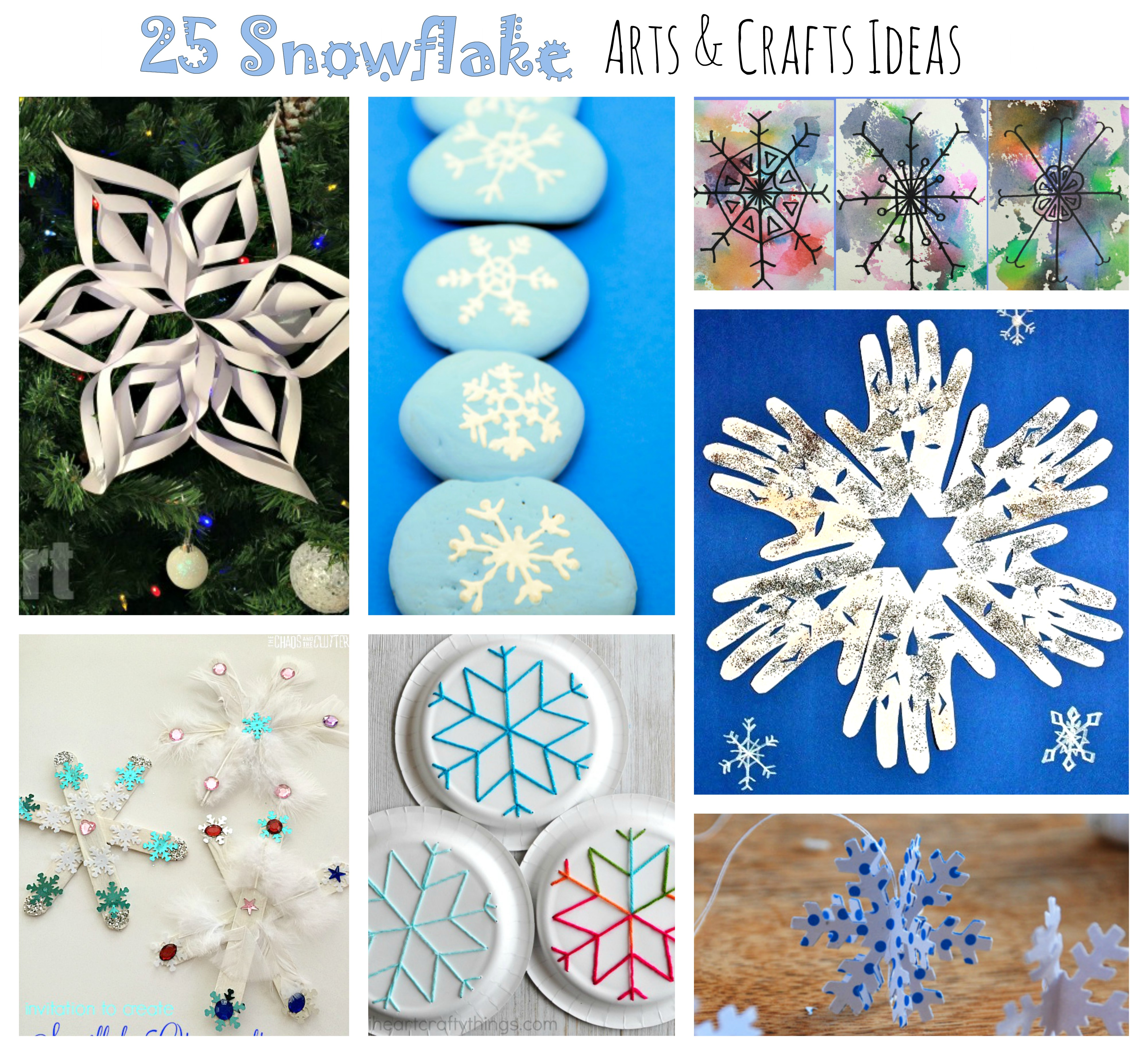 25 Snowflake Arts And Crafts For Kids The Pinterested Parent