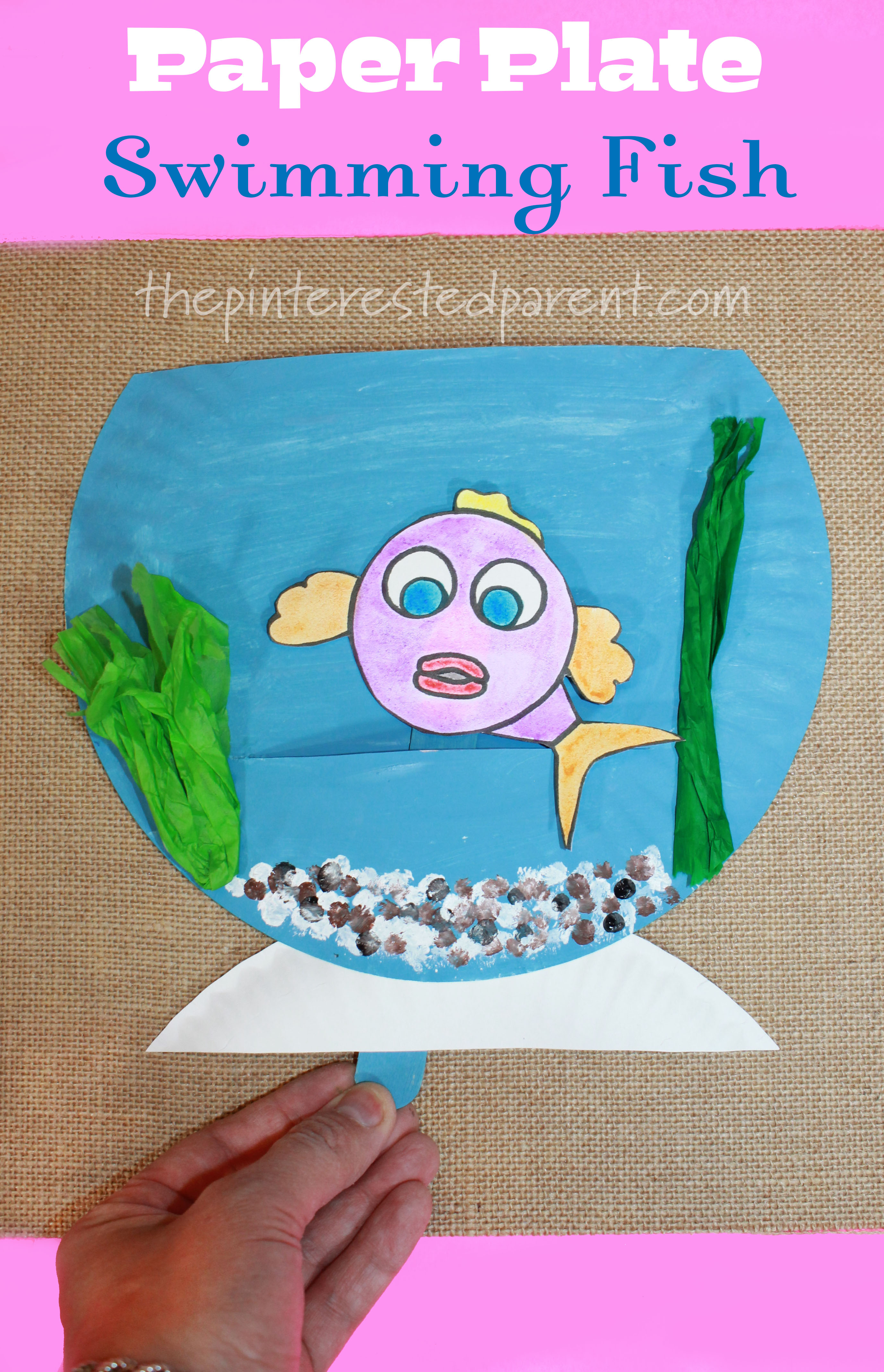 Paper Plate Swimming Fish The Pinterested Parent
