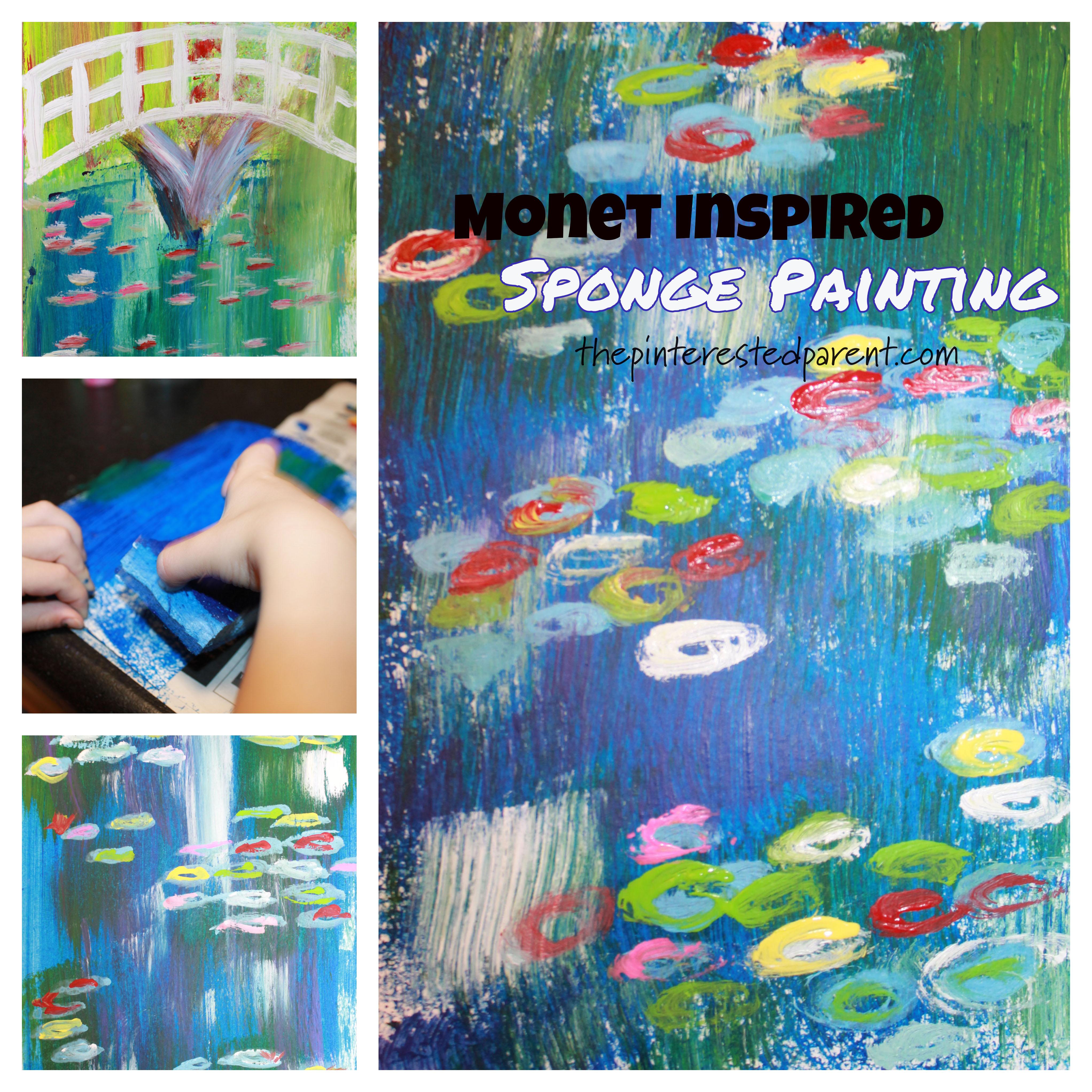 Monet Inspired Sponge Painting The Pinterested Parent
